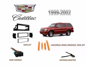 Fits 1999 2002 Cadillac Escalade Stereo Install Dash Kit Wire Harness