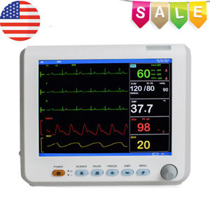 Medical Equipment Vital Sign Patient Monitor Ecg nibp resp Temp spo2 pr Gift A