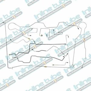 1997 02 Fits Dodge Dakota Ext Cab Short 4x4 Abs Rear Drum Brake Lines Kit Steel
