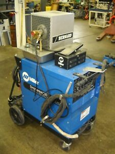 Miller Syncrowave 250 Ac dc Welding Source Tig Welder Water Cooled Complete Unit