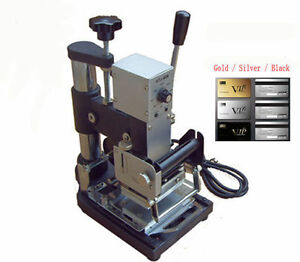 220v Manual Hot Foil Stamping Machine Pvc Plastic Card Tipper Stamper