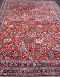 8 8 X 12 6 Fine Hand Knotted 100 Wool Antique Persian Bijar Oriental Rug