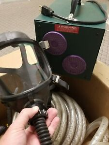 Pro Air 40 Full Face Fresh Air Fed Gas Respirator Mask Breathing System New