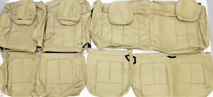 2010 Ford F150 Xlt Super Cab Pickup Saddle Tan Leather Upholstery Seat Cover Set