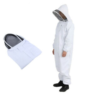 Professional Cotton Xxl Full Body Beekeeping Bee Keeping Suit W Veil Hood