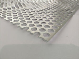 Perforated Metal Aluminum Sheet 062 16 Gauge 24 X 24 3 4 Hole 1 Stagger