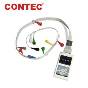 Contec Tlc5000 Ecg Holter 12 Channel 24h Ekg Monitor Pc Software Analyzer Fda