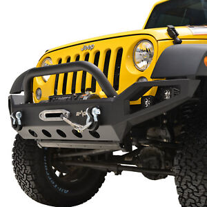07 18 Jeep Wrangler Jk Led Front Bumper With Winch Plate And D rings