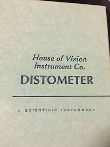 Distometer house Of Vision Measures Vertex Optician Optical Optometry Tool