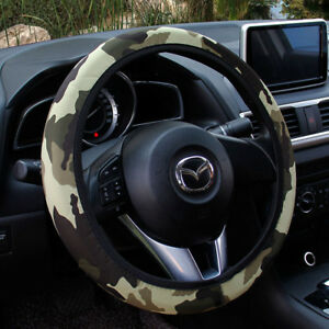 15 38cm Universal Stretchy Camo Camouflage Neoprene Car Steering Wheel Cover