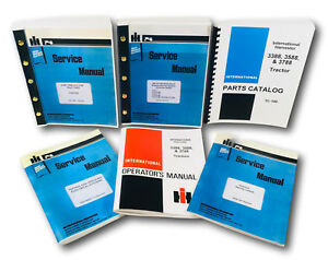 International 3388 3588 3788 Tractor Service Parts Operators Manual Engine Set