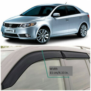 Ke10709 Window Visors Sun Guard Vent Wide Deflectors For Kia Cerato Sd 2009 2013