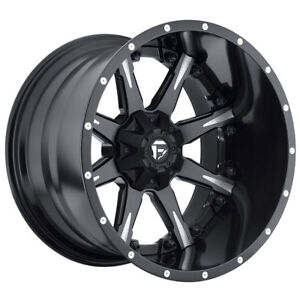 Fuel Nutz Rim 20x12 8x170 Offset 44 Black milled qty Of 4