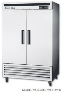 Maxx Cold Mcf 49fd 49 cu ft Reach in Two Door Commercial Freezer Stainless Rfb