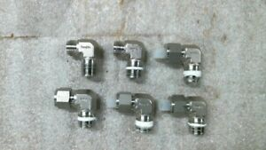 Lot Of 6 Used Swagelok Ss 810 2 8 90 Degree Male Connectors 1 2 Npt 1 2 Tubing