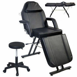 Adjustable Portable Medical Dental Chair W stool Combination Black