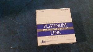 Lot Of 720 Mercedes Platinumline Starfrost Microscope Slide Mer 7255 90 wh
