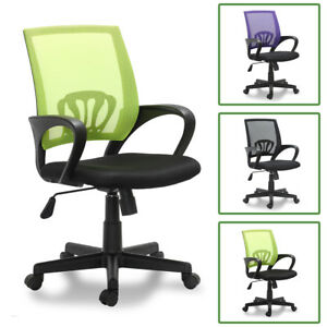 Office Chair Swivel Seat Height Adjustable Computer Chair Black green purple