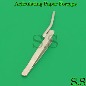 10 Dental Articulating Paper Forceps Curved 6 Surgical Holding Instruments