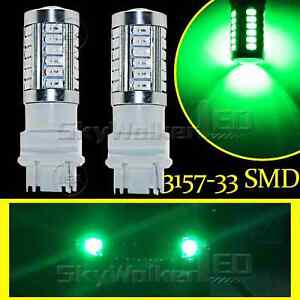 Green 3157 T25 33smd Led Daytime Running Lights Drl Fog Light Bulb Lamp