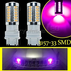 2pcs Purple 3157 T25 5730chip 33smd Led Bulbsfor Daytime Running Lights Drl Lamp