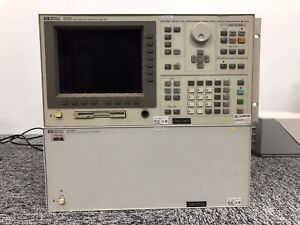 Hewlett Packard 4156a Semiconductor Parameter Analyzer With 41501b