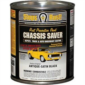 Chassis Saver Paint Stops And Prevents Rust Satin Black 1 Quart Can New