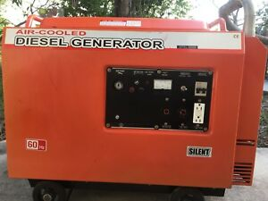 Air cooled Diesel Generator Spsl 5000 Silent 60hz Pre owned local Pick Up Only