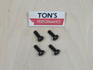 Oem Replacement 4 Acura Luxury Auto License Plate Screws Black Stainless Bolts