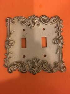 Vintage 1967 American Tack Hardware Co Double Light Switch Wall Plate