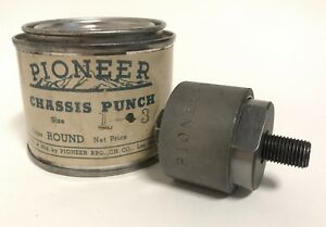 Vintage Pioneer Broach Radio Chassis Punch 1 3 16 Round Made Usa Antique Metal