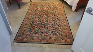 Persian Rug Hand Knotted Signed Isfahan Masterpiece Wool On Silk 4 8 X 8