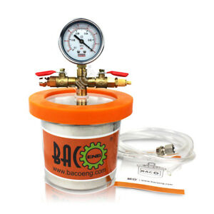 Bacoeng 1 2 Quart Stainless Steel Mini Vacuum Chamber