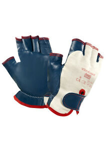 Ansell 07 111 Vibraguard Driver s Style Fingerless Safety Gloves Gauntlets