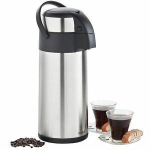 Vonshef Thermal Airpot Carafe Coffee Beverage Dispenser Stainless Steel