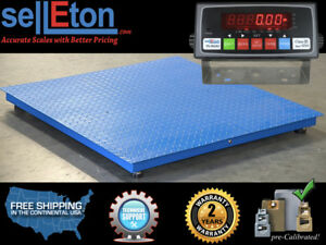 New 10000 Lb X 1lb 40 X 40 Floor Scale Pallet Scale With Metal Indicator