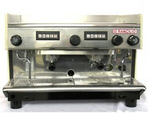 Rancilio 2 Group Commercial Espresso Machine Excellent Condition Refurbished