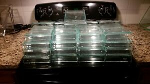 Lot Acrylic Shoe Display Risers 21 4x10x7 4 6x10x7 Green Tint