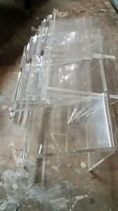Lot 13 Acrylic Shoe Display Riser Holders 1 9x10x7 8 6x10x7 4 4x10x7