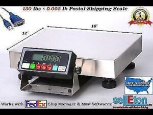 Smart Postal Shipping Scale L 130 Lbs X 005 Lb With Usb Cable