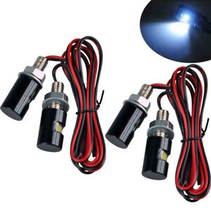 4x Motorcycle Screw Smd Led Bolt Lamp Car Universal License Plate Light 12v
