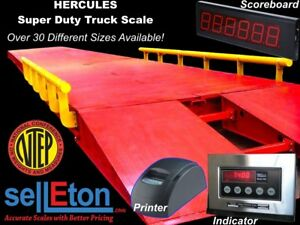 New Super Duty Truck Scale 130 000 Lbs Cap ntep Legal For Trade 40 X 10