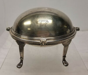 Antique Birmingham Englang Silver Plate Tureen Covered Dish Ellis Barker