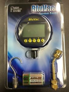 Bluvac Digital Micron Gauge With Coupler Hook And Battery