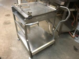 M e Professional Series Slicer Cart Stand Stainless Steel Commercial Rolling
