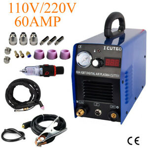 Igbt Plasma Cutting Machine Cutter 60amp With Free Accessories Fast Ship
