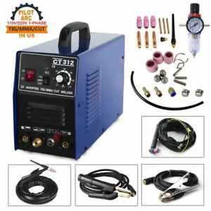 Fast Shipping Pilot Arc Plasma Cutter Mma Tig Welder Ct312p 3in1 Machine