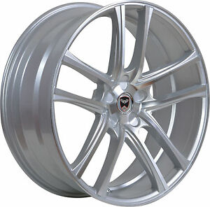 4 Gwg Wheels 22 Inch Stagg Silver Zero Rims Fits Ford Mustang Gt W perf 2015 18