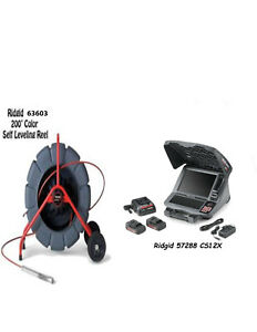 Ridgid 200 Color Sl Reel 13988 And 57288 Cs12x W Batteries And Charger