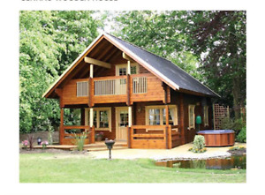 Cabin Kit 1 472 Ft 2 Story 3 Bed Wooden Guest House home Custom Free Shipping